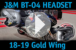 J&M BT-04 Headset 18-19 Gold Wing