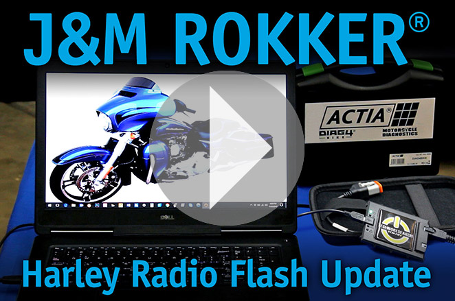 J&M ROKKER Harley Radio Flash Update