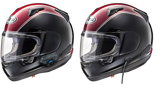 Arai Goldwing Helmets with J&M Integrated Headsets