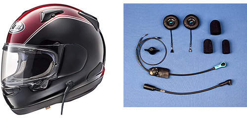 Arai Goldwing Helmets with J&M Integrated Corded Headsets