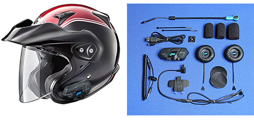 Arai Goldwing Helmets with J&M Integrated Bluetooth Headsets