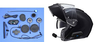 HJC I90 Helmet with Integrated J&M Elite Series Bluetooth Headset