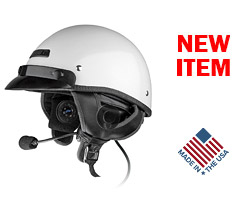 J&M Performance 291 Series Integrated Helmet Headset for most Shorty-Style (1/2) Helmets