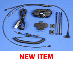 J&M BT-04 Series Bluetooth® Helmet Headset Conversion KIT for J&M Brand Clamp-on Style Corded Helmet Headsets