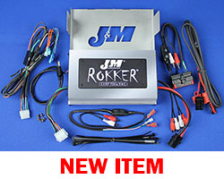 J&M ReFurbished ROKKER® XXRP 700w 4-CH DSP Amplifier kit 2006-2013 Harley® StreetGlide w/Rear or Lower Speakers