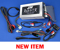 J&M Refurbished ROKKER® XXRP 700w 4-CH DSP Amplifier kit for 2006-2013 Harley® RoadGlide w/Rear or Lwr Spkrs
