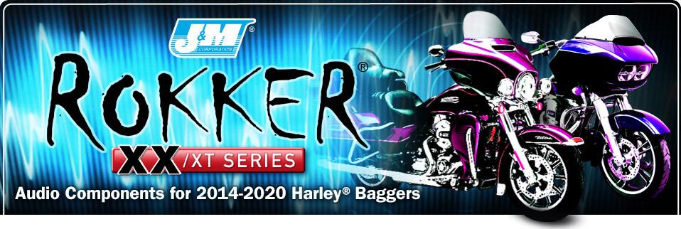 J/&M Rokker XXR 6.71 Front Speaker kit for 2014 and Newer Harley-Davidson Ultra Classic and Street Glide models HCRK-6712TW-XXR J/&M Corporation