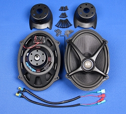 "J&M ROKKER® XXR 5X7"" Saddlebag-Lid Speaker Upgrade Kit w/High-Output Tweeter for 2006-2021 Harley® Baggers"