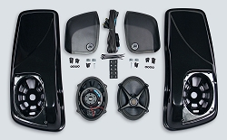 "J&M Saddlebag-Lid Kit w/ROKKER® XXR 5X7"" Speakers & Plug-n-play Wiring Harness Included for 2014-2021 Harley® Baggers"