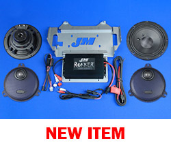 J&M ROKKER® XXR EXTREME 400w 2-Speaker/Amplifier Installation Kit for 2014-2021 Harley® StreetGlide/Ultra