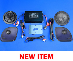 J&M ROKKER® XXR EXTREME 400w 2-Speaker/Amplifier Installation Kit for 2015-2021 Harley® RoadGlide/Ultra