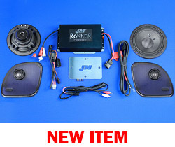 J&M STAGE-5 ROKKER® XXR Custom 400w 2-Speaker/Amplifier Install Kit for 2015-2020 Harley® RoadGlide/RoadGlide Ultra
