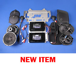 J&M STAGE-5 ROKKER® XXR Custom 700w Dual-Amplifier/4-Speaker Installation Kit for 2015-2017 Harley® CVO StreetGlide
