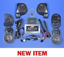 J&M ROKKER® XXR EXTREME 800w 6-Speaker/Amplifier Installation Kit for 2016-2021 Harley® Roadglide Ultra