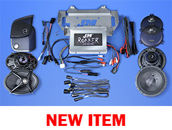 J&M STAGE-5 ROKKER® XXR Custom 800w 4-Speaker/Amplifier Install Kit for 2014-2020 Harley® StreetGlide