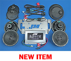 J&M STAGE-5 ROKKER® XXR Custom 800w 4-Speaker/Amplifier Installation Kit for 2014-2020 Harley® CVO Ultra/Ltd