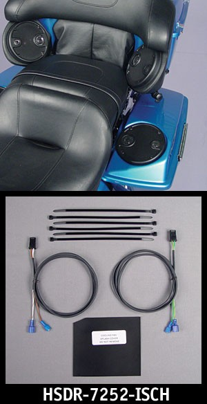 REAR Speaker In-Series Wiring kit 06-12 Harley w/Pods & Bags Spkrs