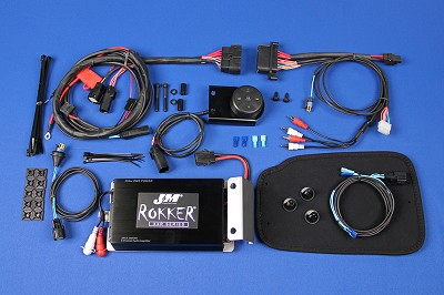 J&M ROKKER® XXR 400w BlueTooth® Controlled Amplifier Kit for 1998-2018 Harley® RoadKing