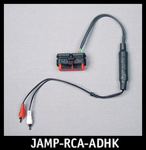 J&M Isolated RCA Input Amp Harness for REAR-OUTPUT Harley HK Radio