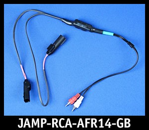 J&M Green-Band Front-Channel Isolated RCA Input Amplifier Harness for 2014-2020 Harley StreetGlide/RoadGlide/Ultra/Ltd