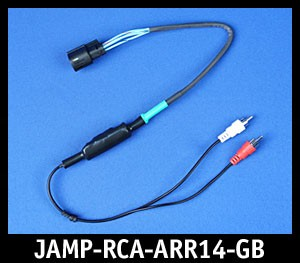 J&M Green-Band Rear-Channel Isolated RCA Input Amplifier Harness for 2014-2020 Harley StreetGlide or RoadGlide