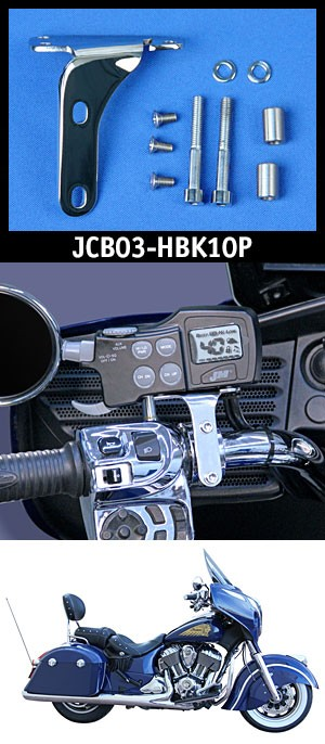 J&M JMCB-2003 Polished Mounting Bracket kit (only) for Indian® Chieftain