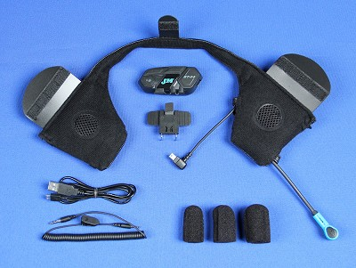 J&M Elite BT-04 Series Bluetooth® Headset with Custom Insert Section for most (1/2) Shorty Style Helmets