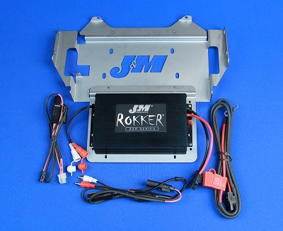 J&M ROKKER® XXR 400w 2-CH Amplifier Kit for 2014-2020 Harley StreetGlide/Ultra