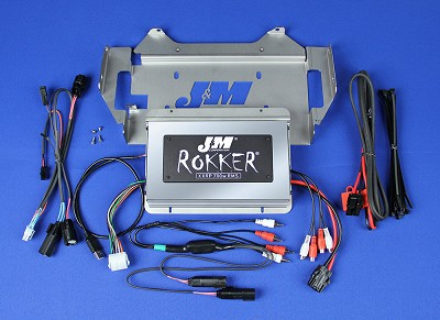 J&M Refurbished ROKKER® XXRP 700w 4-CH DSP Programmable Amplifier kit 2014-2020 Harley® StreetGlide w/Rear or Lwr Spkrs