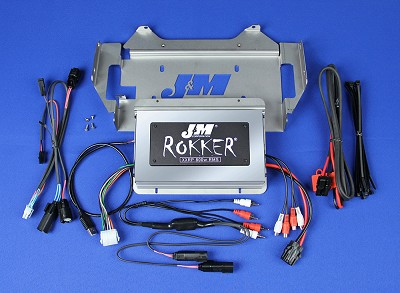 J&M Stage-5 ROKKER® XXRP 800w 4-CH DSP Amplifier kit for 2014-2020 Harley® StreetGlide w/Rear or Lower Speakers