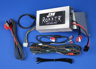 J&M ROKKER® XXRP 800w 4-CH DSP Programmable Amplifier kit for 2011-2013 Harley® RoadGlide Ultra