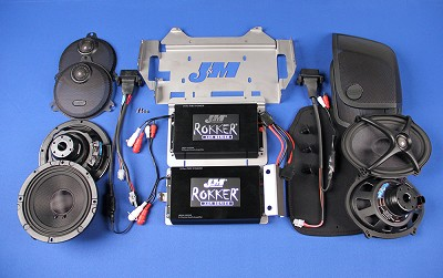 J&M STAGE-5 ROKKER® XXR Custom 800w Dual-Amplifier/4-Speaker Installation Kit for 2015-2017 Harley® CVO StreetGlide