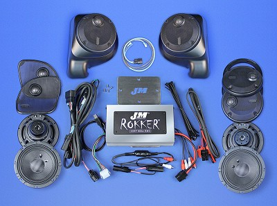 J&M ROKKER® XXR EXTREME 800w 6-Speaker/Amplifier Installation Kit for 2016-2020 Harley® Roadglide Ultra