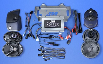 J&M STAGE-5 ROKKER® XXR Custom 800w 4-Speaker/Amplifier Install Kit for 2014-2021 Harley® StreetGlide