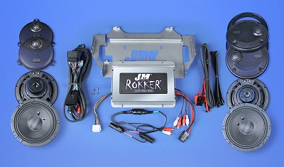 J&M ROKKER® XXR EXTREME 800w 4-Speaker/Amplifier Installation Kit for 2014-2021 Harley® Ultra/Ltd/Tri-Glide