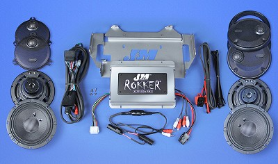 J&M STAGE-5 ROKKER® XXR Custom 800w 4-Speaker/Amplifier Installation Kit for 2014-2020 Harley® Ultra/Ultra Ltd