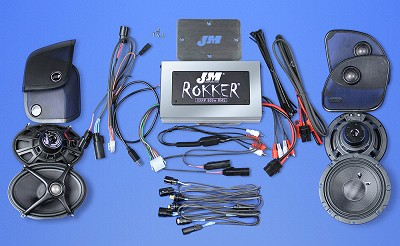 J&M STAGE-5 ROKKER® XXR Custom 800w 4-Speaker/Amplifier Installation Kit for 2015-2020 Harley® RoadGlide