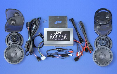 J&M ROKKER® XXR EXTREME 800w 4-Speaker/Amplifier Installation Kit for 2016-2020 Harley® Roadglide